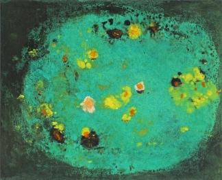 Lekníny, 2011, 25 x 20 cm, olej na kartonu / k prodeji / č. 103