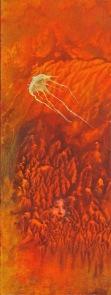 Medůza, 2010, 26 x 12 cm, olej na kartonu / v soukromé sbírce / č. 109