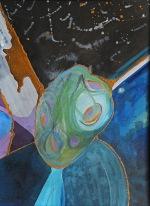 Portrét umělce v letech (u Prahy), 2011, 56 x 41 cm, olej na kartonu / v soukromé sbírce / č. 115