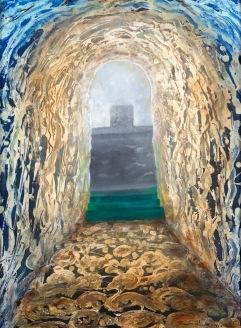 Prázdný oltář, 2012, 67 x 52 cm, olej na kartonu / k prodeji / č. 116