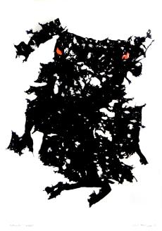 Strašák, 1996, 105 x 75 cm, trikotáž / k prodeji / č. 117