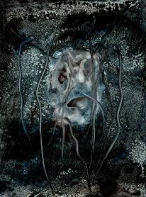 Hlava Medůzy, 2010, 54 x 41 cm, olej na sololitu / v soukromé sbírce / č. 119