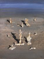 Stará kouřim, 2003, 53 x 41 cm, olej na kartonu / v soukromé sbírce / č. 11