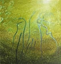 Dno dní, 2002, 73 x 70 cm, olej na dřevě / v soukromé sbírce / č. 125