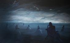 """""""Planina zatracených"""", 1987, 128 x 205 cm, olej na papíře / v soukromé sbírce / č. 138"""