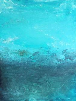 """""""Horizont událostí"""", 2012, 66 x 50 cm, olej na kartonu / v soukromé sbírce / č. 140"""