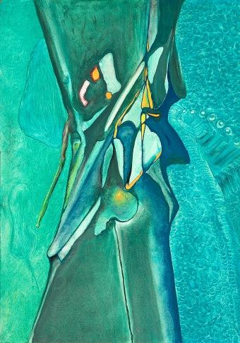 Azurový obraz, 90. léta, neznámé parametry / neznámý majitel / č. 152