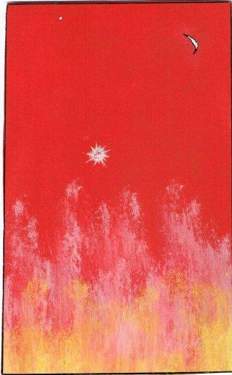 Hvězda jasná, 2012, 10,5 x 17 cm, tempera na kartonu / v soukromé sbírce / č. 158