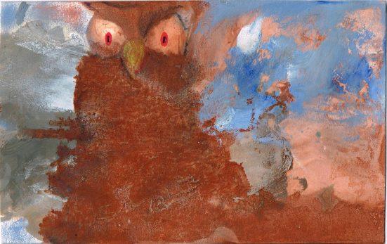 """""""Sova"""", 2013, 22 x 14 cm, olej na kartonu / v soukromé sbírce / č. 160"""