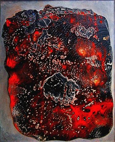 Černá ryba, 2009, 53 x 69 cm, olej na papíře / v soukromé sbírce / č. 162