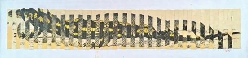 Pocta Kolářovi, 1996, 11 x 32 cm, koláž / k prodeji / č. 165