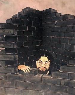 Zachráním tě, fantazie!, 1986, 30 x 20 cm, olej na dřevě / v soukromé sbírce / č. 170