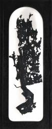 Květy zla, 1992, 76 x 31 cm, trikotáž / v soukromé sbírce / č. 18
