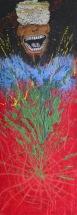 Schizofrenik, 1998, 80 x 29 cm, olej na sololitu / v soukromé sbírce / č. 23