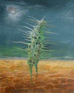 Zelený tanečník, 2010, 84 x 69 cm, olej na sololitu / v soukromé sbírce / č. 28