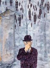 Poslední večeře Reného Magritta, 2012, 50 x 38 cm, olej na plátně / v soukromé sbírce / č. 31