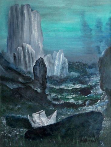 Na moři, 1991, 49 x 38 cm, olej na kartonu / v soukromé sbírce / č. 35