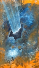"""""""Otevření"""", 2014, 31 x 19 cm, olej na kartonu / v soukromé sbírce / č. 47"""
