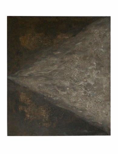 Pyramida světla, 2011, 53 x 43 cm, olej na kartonu / k prodeji / č. 51