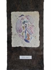 Ruční papír, 1993, 55 x 41 cm, koláž ze série Papíry / k prodeji / č. 52