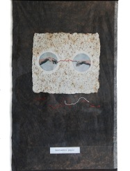 Kontaktní papír, 1997, 69 x 52 cm, koláž ze série Papíry / v soukromé sbírce / č. 53