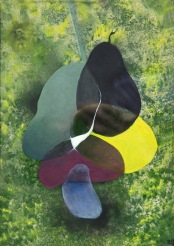 """Prolínání aneb """"Pokus o Foltýna"""", 2008, 24 x 34 cm, olej na kartonu / k prodeji / č. 61"""