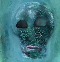 Maska (bez)naděje, 2013, 42 x 40 cm, olej na papíře / v soukromé sbírce / č. 68