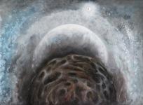 Zatmění, 2007, 42 x 32 cm, olej na kartonu / k prodeji / č. 6