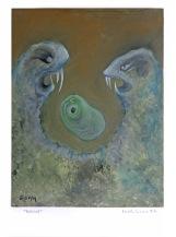 Rozvod, 2014, 45 x 33 cm, olej na kartonu / k prodeji / č. 70
