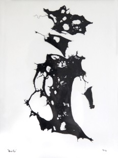 Panička, 1993, 41 x 31 cm, trikotáž / k prodeji / č. 72