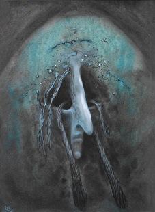 Smutek, 2005, 40 x 30 cm, olej na kartonu / v soukromé sbírce / č. 73