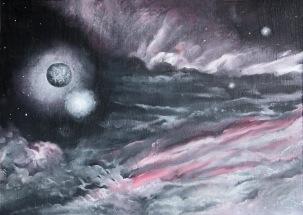 Odtržení, 1992, 50 x 68 cm, olej na sololitu / v soukromé sbírce / č. 77