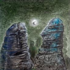 Světlonoš, 2012, 83 x 83 cm, olej na sololitu / v soukromé sbírce / č. 83