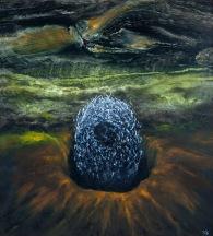 Po sametu, 2005, 60 x 55 cm, olej na sololitu / v soukromé sbírce / č. 89
