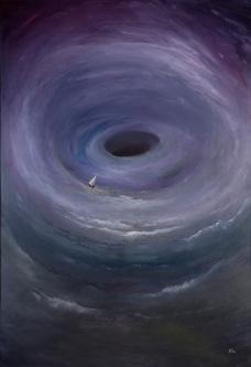 Vzhůru dolů, 1994, 105 x 75 cm, olej na kartonu / v soukromé sbírce / č. 8