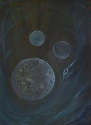 Ticho na třetí, 1993, 67 x 48 cm, olej na bezdřevném papíře / v soukromé sbírce / č. 245