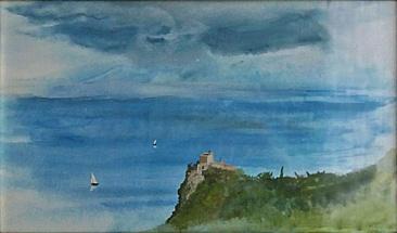 Varigotti, 1994, 27 x 17 cm, olej na kartonu / v soukromé sbírce / č. 249