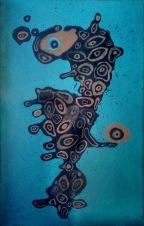 Zlatý voči, 2009, 26 x 40 cm, olej na kartonu / v soukromé sbírce / č. 253