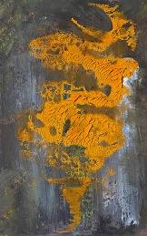 """""""Džin"""", 2010, 19 x 12 cm, olej na papíře / k prodeji / č. 271"""