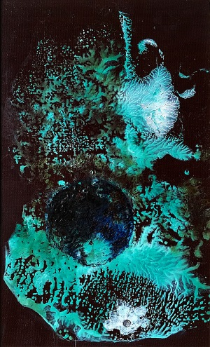 Perla, 1992, 21 x 13 cm, olej na umakartu / k prodeji / č. 275