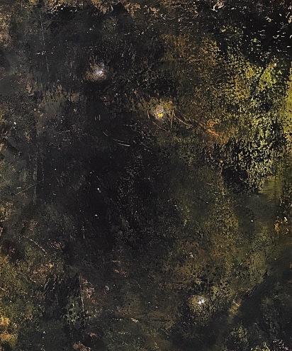 """Žena, která povstává aneb """"Můj soukromý vesmír"""", 1994, 28 x 34 cm, olej na papíře / k prodeji / č. 276"""