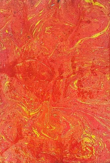 """""""Rozlité slunce"""", 200x, 31 x 21 cm, olej na papíře / k prodeji / č. 278"""