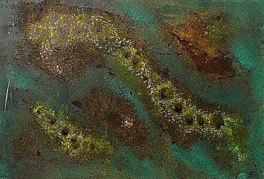 Červi boží se množí, 2012, neznámé parametry, olej na kartonu / v soukromé sbírce / č. 285