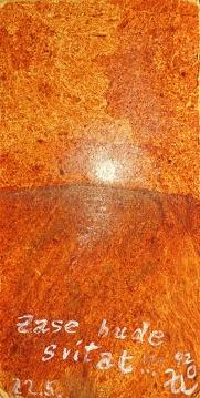 Zase bude svítat, 1992, neznámé parametry, olej na sololitu / v soukromé sbírce / č. 286
